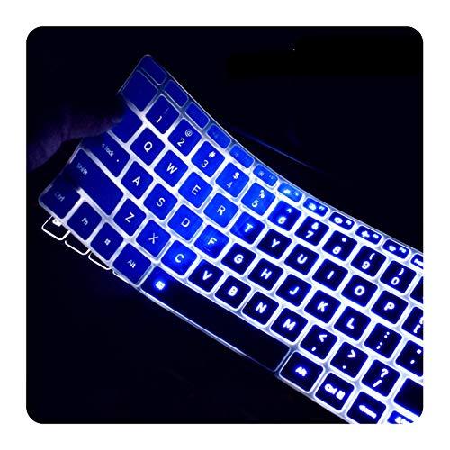 Custodia in silicone per laptop Xiaomi Mi Notebook Air 12.5 13.3 Pro 15.6 Light English Versione Skin Cover Protective Film-Blue 13 inch