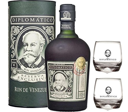 RON RESERVA EXCLUSIVA 70 CL IN ASTUCCIO 2 BASCULANTI DIPLOMATIC GLASS