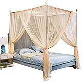 Mosquitera Cama Matrimonio Grande Plegable para Interior y Exterior,Mosquito Net for Bed King,toldo Vela Rectangular,para Decorar la Habitación y Prevenir Insectos (220*190*94.5 Inch) (BG)