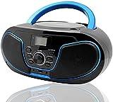 Tragbare CD-Player für Kinder Bluetooth Boombox mit UKW-Radio,USB Eingang, Aux-in, Kopfhörer, 2 x...