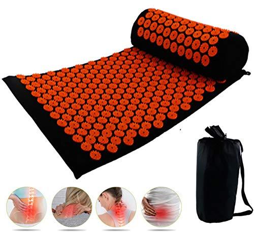 GRXIN Yogamatte Akupressurmatte, Akupressur-Set, Akupunktur Und Massage-Pad, Massagekissen Akupunktur Anzug, Yoga-Matte Anzugfür Schmerzlinderung Und Muskel Entspannung,E