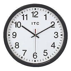 INFINITY/ITC 90/0014-1 Wall Clock, 13-3/4 Diameter, Clear