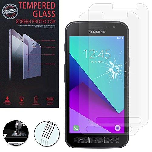 VComp-Shop® 2x Hochwertige gehärtete Panzerglasfolie für Samsung Galaxy Xcover 4 SM-G390F - TRANSPARENT