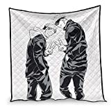 Dessionop Manta de dormir divertida Jujutsu Kaisen Sukuna e Itadori con impresión de aire acondicionado, color blanco, 130 x 150 cm