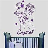 autocollant mural Personnalisé Nom Elsa La Reine Des Neiges personnaliser Sticker...