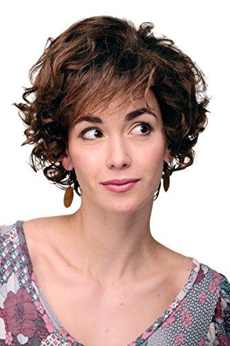 WIG ME UP - Parrucca Donna capelli corti Corta Voluminosa Riccia Ricci Cotonata Mix Castano Castano rossiccio TYW60582-4T30