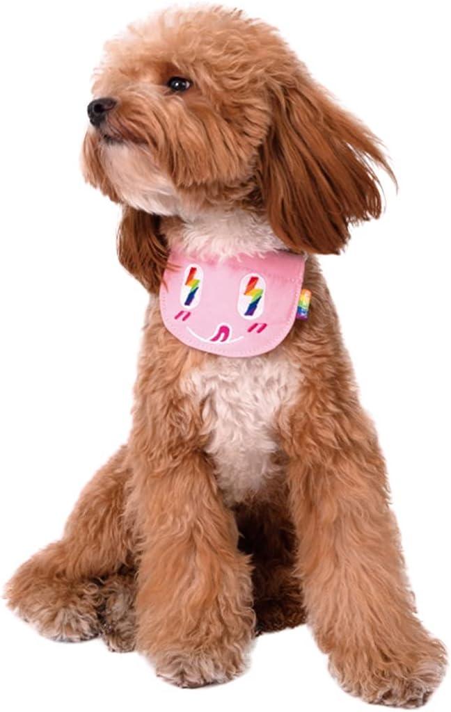 Lnrueg Puppy Bib trend rank Canvas Oakland Mall Cartoon Lightweight Reusable Adjustable