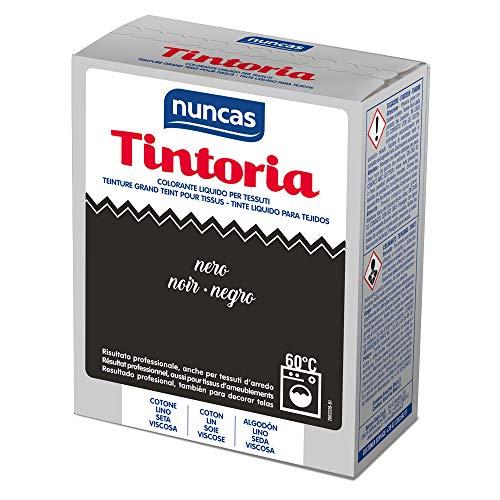 Nuncas Colorante liquido per tessuti, Nero, Fissatore 100 g,