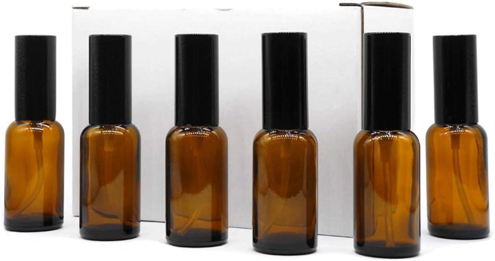 Yizhao Ambar Pulverizador Cristal 30ml, Glass Spray Bottles con [Atomizador],para Aceites Esenciales, Mezclas de Aromaterapia, Perfumes, Masajes, Líquidos Químicos, Farmacéutico– 18Pcs