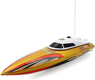 ADLIN Barco RC, de Alta Velocidad a Distancia en Barco de Control, Mini RC lancha rápida, 2,4 GHz de 4 Canales Electric Boat Racing for Piscinas y Lagos, Incorporado en el Sistema de refrigeración de