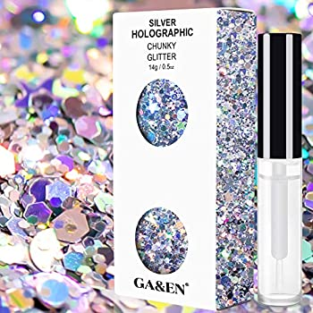 Gadgets Entrepot Silver Holographic Chunky Cosmetic Glitter