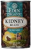 Eden Organic Kidney Beans, 15 oz Can, No Salt, Non-GMO, Gluten Free, Vegan, Kosher, U.S. Grown, Heat and Serve, Macrobiotic, Red Beans