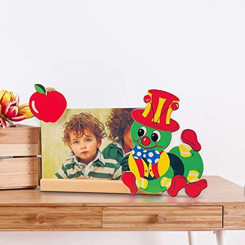 Dida - Cadre Photo Bois Enfant – Chenille Pomme - Cadre pour Photo Horizontale