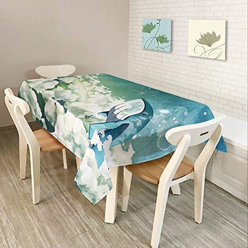 Alayth Manteles ULE Mesa Rectangular Restaurante Poliéster Espesar Mantel Rectangular Impermeable Mantel Patrón De Dibujos Animados-140cmx140cm_Color3