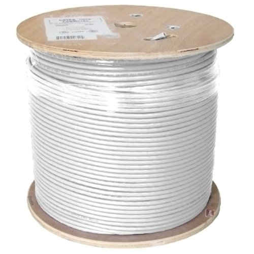 Vertical Cable Cat6A 10G, UTP, 23AWG, Solid Bare Copper, PVC, 1000ft Bulk Ethernet Cable, White