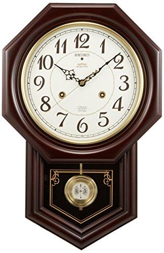 セイコー 掛け時計 飾り振り子 八角尾長