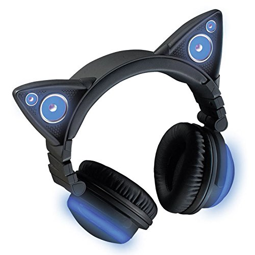 Brookstone Wireless Cat Ear Headphones Bluetooth Headset (Color Changing)