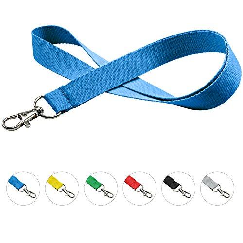 linie zwo®, Pack de 10 cordones para llaves 20 mm, gancho easy going, Azul