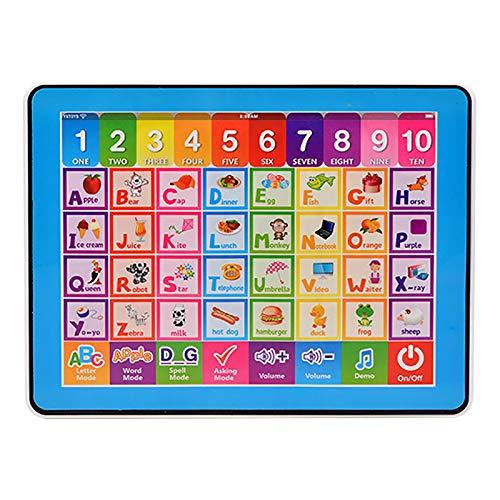 Kinder-Lernspielzeug, Kinder-Lern-Englisch-Lernspielzeug Multifunktions-Touch-Tablet, Weihnachtsgeburtstagsgeschenke für Kinder