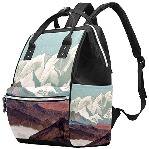 Price comparison product image Nicholas Roerich Himalayas Diaper Tote Bags Mummy Backpack Large Capacity Nappy Bag Nursing Traveling Bag for Baby Care