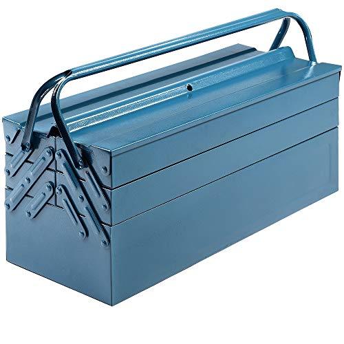 Deuba Werkzeugkasten leer groß Stahl 5-teilig Werkzeugkoffer Werkzeugbox Werkzeugkiste Werkzeug...