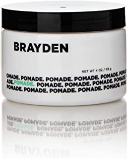 Brayden for Men Pomade for Natural Shine Finish, Controlled Frizz, Smoother Hair with Essential Oils & Natural Extracts