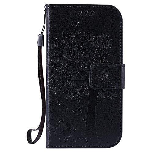 Nancen Compatible with Handyhülle Galaxy S3 / I9300 Flip Schutzhülle Zubehör Lederhülle mit Silikon Back Cover PU Leder Handytasche