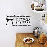 Vous ne pouvez pas acheter le bonheur mais vous pouvez acheter du vin Vinyle Wall Art...