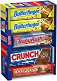 ASSORTED CANDY BARS: This delicious assortment of full size candy bars features some of your favorite chocolate confections: Butterfinger, Crunch, Baby Ruth & 100 Grand PERFECT FOR SHARING: With 20 full sized candy bars, this assortment is perfect fo...