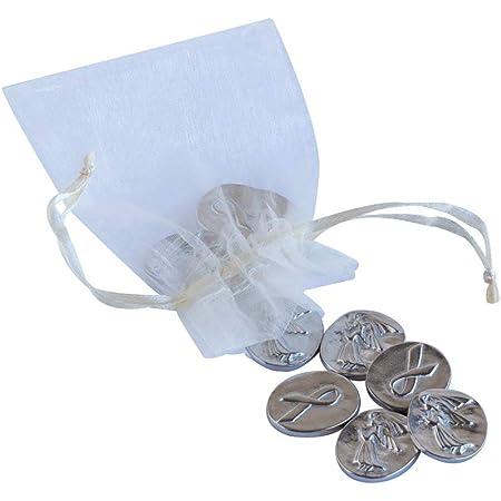DANFORTH Angel Awareness Pocket Tokens/Coins, Pewter, Made in USA, Gift Bag (Pack of 10)