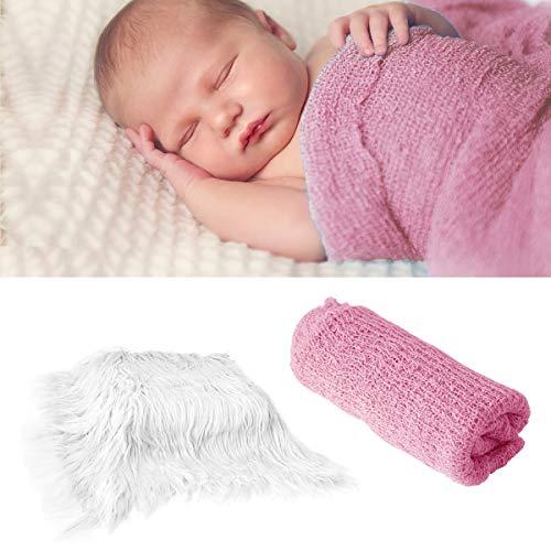 2 piezas de envoltorios para fotos de bebé recién nacido y alfombrilla de fotografía, manta de fotos para bebé recién nacido, envoltorio de utilería de fotografía, para fotografía
