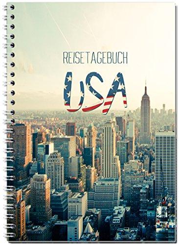 Reisetagebuch USA/Amerika zum Selberschreiben/Notizbuch A5 Ringbuch mit 120 Seiten/Packliste, Reiseplan, Zitate, spannende Reise-Challenges.Ver.2 - Von Sophies Kartenwelt