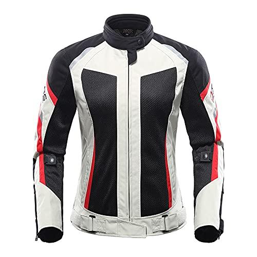 LITI Conjunto de moto para mujer Ce Armour Cordura Textil 2 piezas traje chaqueta de motocicleta+pantalón 100% impermeable verano transpirable