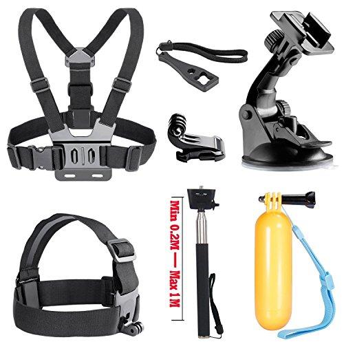 SOOCOO Sports Action Camera Accessories Kit for Campark ACT74 Crosstour CT7000 DBPOWER EX5000 N6 AKASO EK7000 FITFORT EKEN H9R APEMAN MGcool ODRVM DROGRACE S100 Pro C30 Underwater Camera