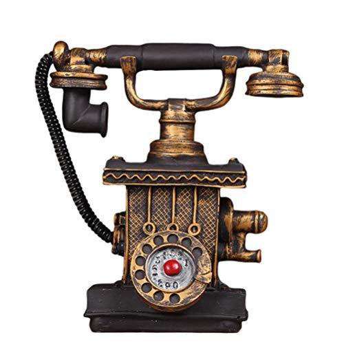 VOSAREA teléfono Antiguo Hucha teléfono Resina rotativo