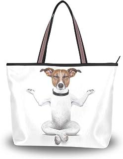 My Daily Damen Tragetasche, Schultertasche, lustig, Yoga-Hund, Handtasche