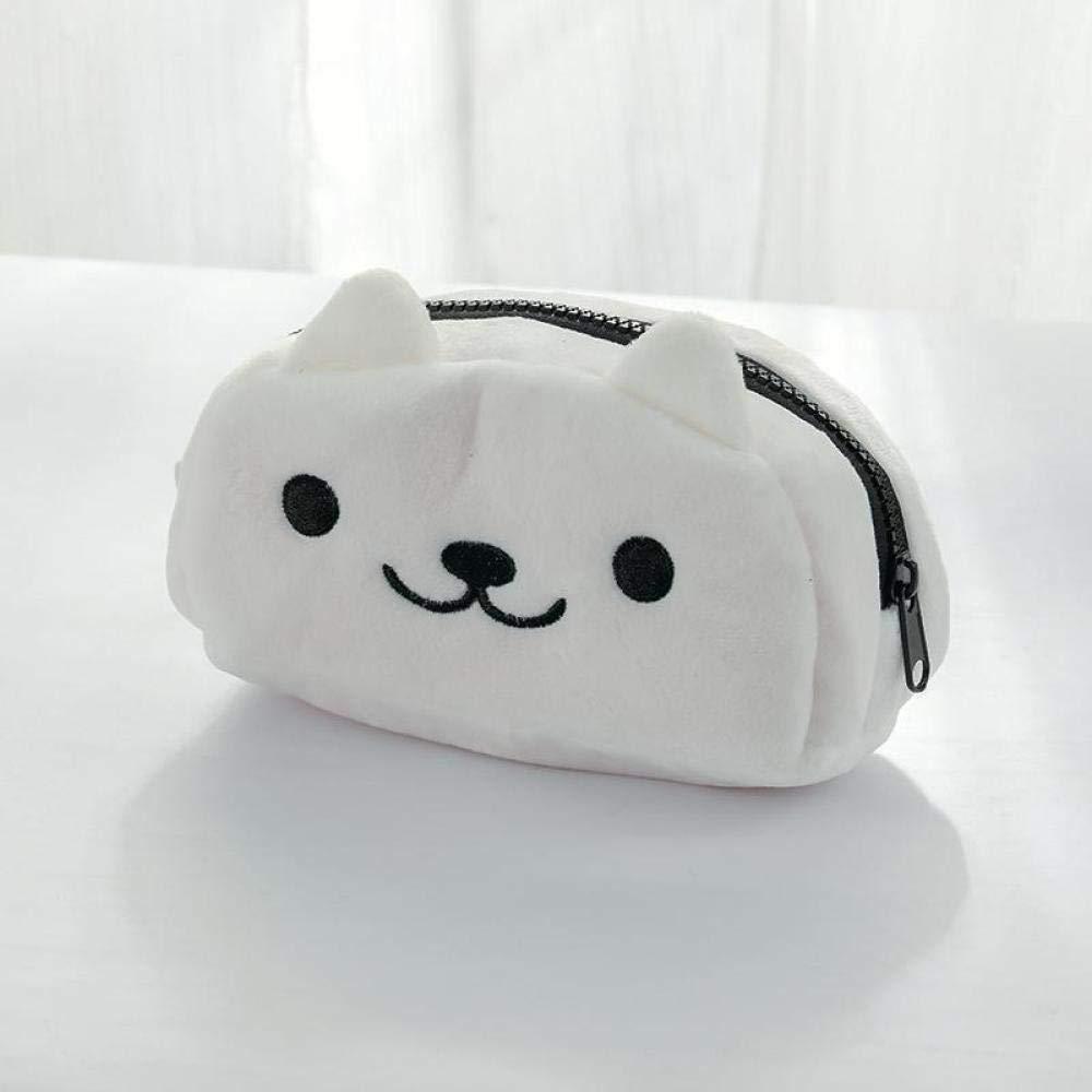 Estuche Escolar Monedero de felpa papelería bolsa gatito blanco 18 * 9.5 * 7cm: Amazon.es: Oficina y papelería