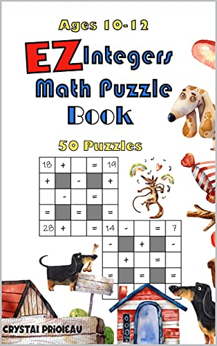 EZ Integers Math Puzzle Book (English Edition)