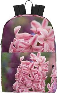 Floral Rosa Jacinto clásico Mochila Impermeable Bolsas de Viaje Causal College School Mochilas Mochilas Mochila para niños Mujeres Hombres