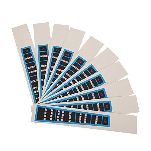 4/4 Violin Sticker Notes Guide, Violin Sticker, Notizpositionen für Übungsanfänger Violine Zubehör Griffbrett(BC03 1/8 blue edge)