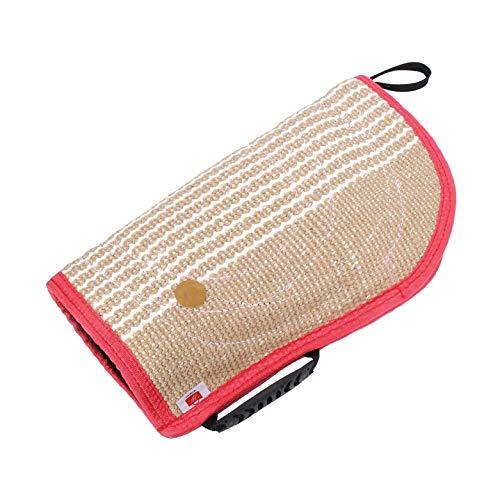 Wisherce Dog Bite Sleeve - Train Puppies to Bite - Jaw Exercise to Strengthen Chew and Outdoor Play- Teeth Soothing Jute Material and Padded Interior Protects Arm from Hard Bite