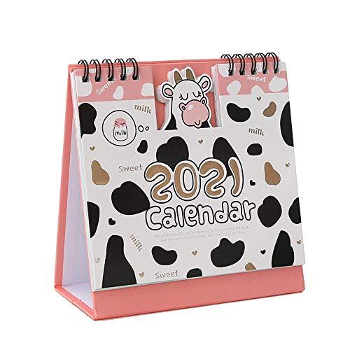 Calendario de escritorio de dibujos animados de 2021, Kawaii, decoración de escritorio, planes de notas, planes diarios de Año Nuevo