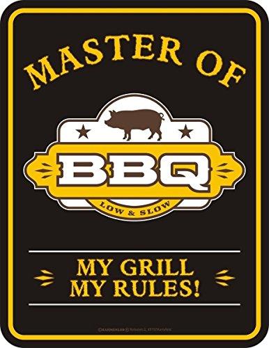 Rahmenlos Original metalen bord voor de grillparty: Master of BBQ - My Grill, My Rules