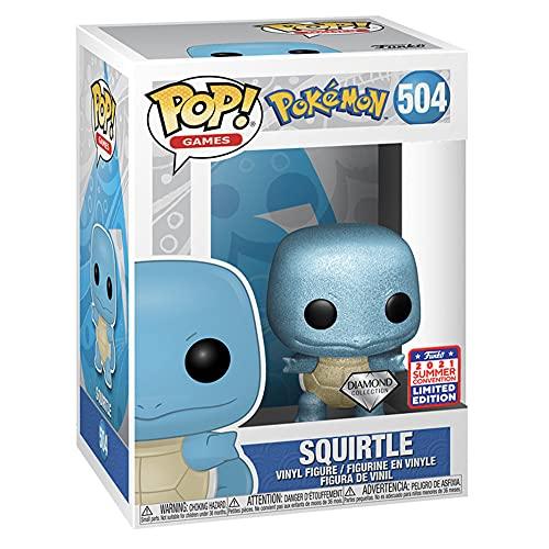 Funko POP! Games: Pokemon Squirtle Diamond Collection 2021 FunKon Exclusive 504 Shared Summer