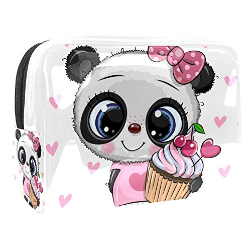 Kosmetiktasche & Schminktasche Panda Bow Cake Make Up Tasche & Beautycase für Damen 18.5x7.5x13cm