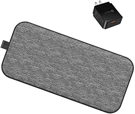 5 Coil Dual Wireless Charging Pad MIROMTEC 2 in 1 Qi Fast Wireless Charger Mat Compatible with product image