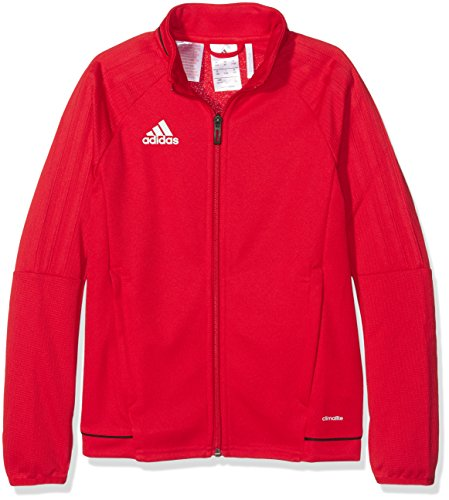 adidas Jungen Tiro 17 Trainingsjacke, rot (Scarlet/Black/White), 152