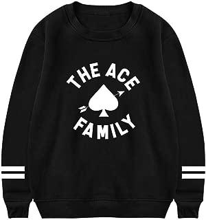 AolaZW Women's Ace Family Pullover Hoodies O-Neck Sweatshirt Athleisure