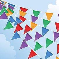 Joykey 100M Multicolor banderines 200 Banderas Nylon banderin Decoración para la Fiesta de Bodas del cumpleaños, Actividad al Aire Libre, jardín
