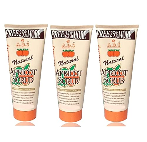 GLAVON ADS Everyday Naturals Hydrating & Exfoliating Apricot 200 gm Scrub in Combo with Crazy Lips Lip Balm(Paech) [ Super Pack of 4 Items ]